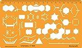 Organische Chemie Laborgeräte Schablone Reaktion Diagramm Chemieschablone Chemische Apparate Zeichenschablone Technisches Zeichnen