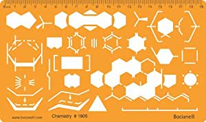 Chemistry Chemical Engineering Laboratory Lab Equipment Symbols Drawing Template Stencil by Bocianelli