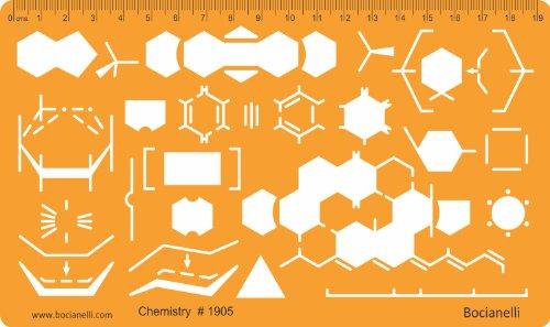 Organische Chemie Laborgeräte Schablone Reaktion Diagramm Chemieschablone Chemische Apparate Zeichenschablone Technisches Zeichnen (Architektur-diagrammen)