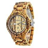 4b6edfc45579 F Fityle Madera Reloj de Cuarzo Wooden Watch Pulsera Unisex Colección  Bonita - C 1