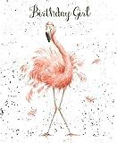 Grußkarte - WRE2173 - Fun, Federn und Schnurrhaare - Birthday Girl - Flamingo