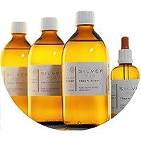 Preisvergleich für PureSilverH2O 1600ml Kolloidales Silber (3X 500ml/10ppm) + Pipettenflasche (100ml/10ppm) Reinheit & Qualität seit...
