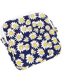 Yellow : Kingko Women Girl Cute Sanitary Pad Organizer Holder Sanitary Pad Portable Storage Bag Napkin Towel Convenience...
