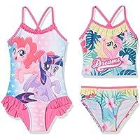 FABTASTICS Girl's Swimsuit, Pack of 2
