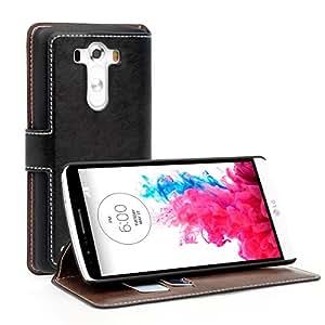 Yousave Accessories Coque LG G3 D855 Etui Noir PU Cuir Portefeuille Meuble Housse