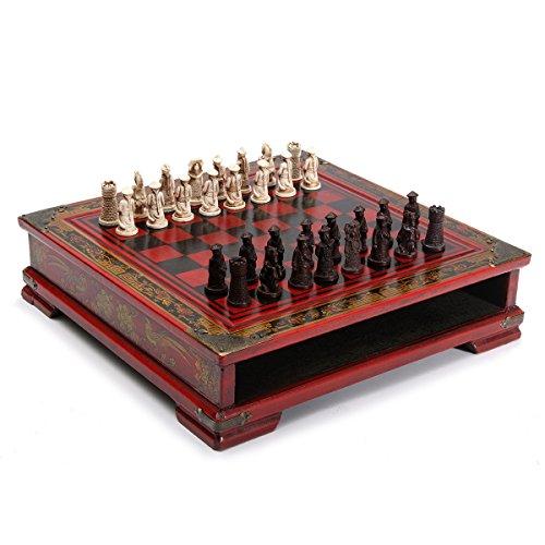 MKILJNH Exquisito Ajedrez de Mesa de Madera, 32 Piezas/Set de ajedrez