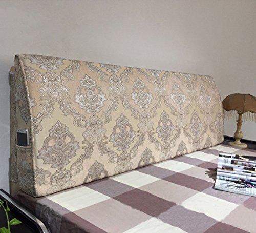 Europäische Jacquard-Abdeckung Für Kopfteil Weiches Langes Bett Rückenlehne Zum Lesen Mit Schwamm Füllung-alle Größe,JacquardF-150*50*10cm (Lange-bett-abdeckung)