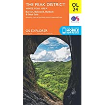 OS Explorer OL24 The Peak District (OS Explorer Map)