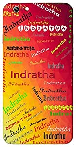 Indratha (Popular Girl Name) Name & Sign Printed All over customize & Personalized!! Protective back cover for your Smart Phone : Lenovo P1-M
