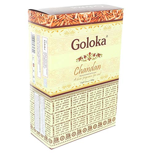 Goloka Masala-Räucherstäbchen, aus Sandelholz, Duft Chandan, 12 Stück