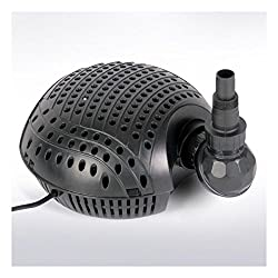 Pond Filter and Stream Pump | Output max 9000 l/h, 150 W, Submersible, 10m Cable with Rubber Plug | Garden, Pond, Lake, Water Circulation Accessory