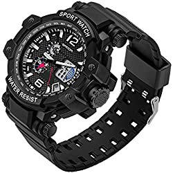 HUKOER Newest Style Multifunctional Digital LED Waterproof Electronic Outdoor Sports Watches