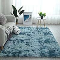 Modern Shaggy Rugs Fluffy Soft Touch Dazzle Sparkle Area Rug Carpet Large for Living Room Bedroom Floor Mat (Sky Blue,200 x 300cm)