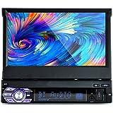 PolarLander 1 DIN 7 pulgadas de pantalla táctil LCD de la radio de coche de apoyo al jugador Bluetooth manos libres para 1080P Película cámara de visión trasera