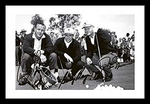 Jack Nicklaus & Arnold Palmer & Gary Player Autographed Signed And Framed Poster Photo