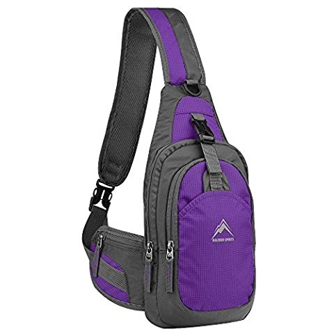 Unbalance Backpack, MALEDEN Anti-scratch Waterproof Sling Bag Crossboby Shoulder Pack for Outdoor Cycling, Running, Hiking, Climbing and Travel