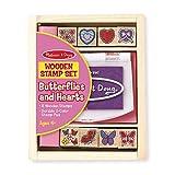 Melissa & Doug 12415 - Juego de sellos para estampar con diseño de corazón y mariposa