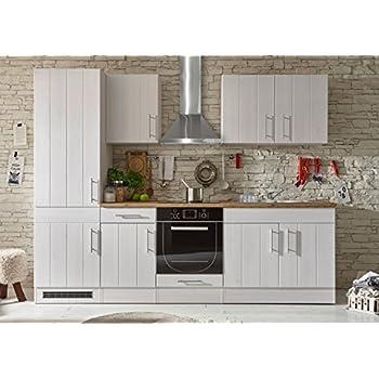 Küche landhaus küchenblock küchenzeile komplettküche 260cm singleküche miniküche kleinküche weiß