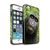 Stuff4 Coque Matte Robuste Antichoc de Coque pour Apple iPhone Se/Selfie Babouin...
