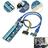 MagiDeal 1X to 16X PCI-Express Card USB Extension Cable 30cm PCIe Controller Power Riser Litecoin