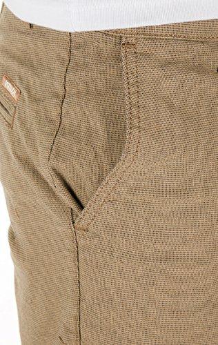 Yazubi Herren Chino Shorts Aiden gemustert Braun (Desert Taupe 171311)