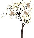 LittleLion Studio 045001080081080092019000Affe Baum Wand Aufkleber Dark Brown/Light Brown/Metallic Copper/Dark Yellow