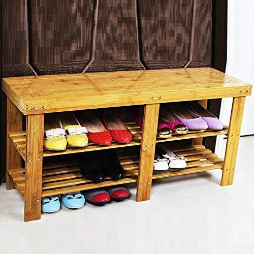Weiwei scarpiera scarpiera panca semplice moderna in legno massello sgabello multifunzionale in legno massello,figura 5,taglia unica wei