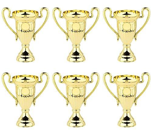 6 Stück Kinder-Pokale 10cm (Mini) mit Wunschemblem (Geburtstag, Party). Für über 50 Sportarten verfügbar. (American Football, Angeln, Badminton, Baseball, Basketball, Billard, Boule (Petanque), Bowling, Boxen, Dart, Eishockey, Eiskunstlauf, Eisschnelllauf, Eisstock, Fechten, Feuerwehr, Fussball, Tischfussball, Gewichtheben, Go-Kart, Golf, Gymnastik, Handball, Feldhockey, Hundesport, Judo, Ju-Jutsu, Kaninchenzucht, Karate, Katzenzucht, Kegeln, Leichtathletik, Minigolf, Motorsport, Mountainbike, Musik, Oldtimer (Motorrad), Oldtimer (Auto), Radsport, Reiten, Rhönrad, Ringen, Rodeln, Rudern, Schach, Schützen, Schwimmen, Segeln, Skat, Ski (Abfahrt, Langlauf, Slalom, Biathlon, Kombination, Skispringen), Snowboard, Squash, Surfen, Tanzen, Taubenzucht, Tennis, Tischtennis, Traktor (Lanz), Turnen, Volkslauf, Volleyball, Wandern, Wasserball, Würfeln).