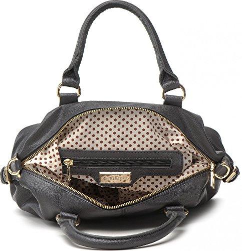 MASQUENADA, borsa da donna, Borsa a mano, Borsa con manico, Bowlingbags, 30,5 x 22,5 x 12 cm grigio