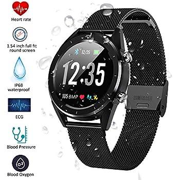 Padgene Smartwatch, Reloj Inteligente Bluetooth SmartWatch Pantalla táctil con Múltiples Modos de Deportes, Monitor de sueño, Podómetro, Notificación ...