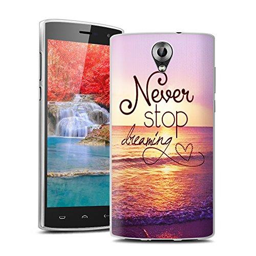 Easbuy TPU Clear Transparent Silikon Tasche Case Etui Cover Hülle für Homtom HT7 HT7 PRO