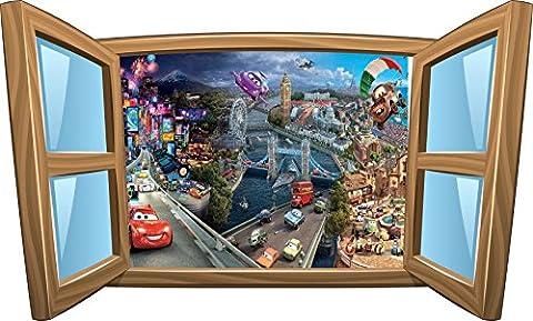 Wandtattoo Kinder Fenster Disney Cars OEM 960, 120x72cm