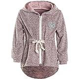 Mädchen Kapuzen Jacke Pulli Pullover Glitzer Sweatshirt 21489, Farbe:Rosa, Größe:152
