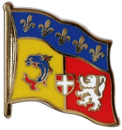 Flaggen-Pin / Anstecker Frankreich Rhône-Alpes
