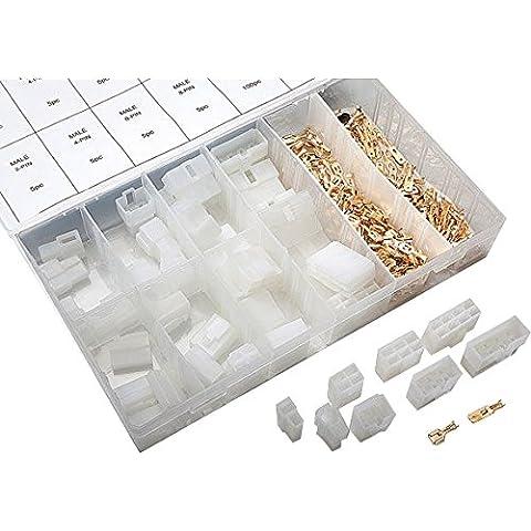Caja de conectores planos (240 piezas, con conector plano de 2, 4, 6 y 8 mm)
