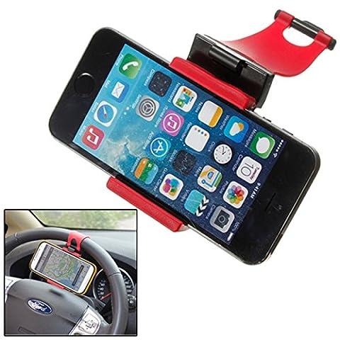Net Solutions Support volant de voiture pour smatphone, Navigateur GPS jusqu'à 6 pouces (Samsung s6, s7 edge plus, iPhone 5, 6, 7 plus etc