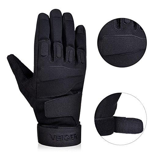 Vbiger Outdoor Sport Fahrradhandschuhe Mountainbike Handschuhe Motorradhandschuhe (Schwarz, XL) - 5