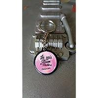 Porte clés 25 mm Je suis une Atsem qui déchire + prénom