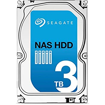 Seagate NAS HDD - 3 TB - interne Festplatte, ST3000VN000 (3,5 Zoll), 5900rpm, 64 MB Cache, SATA III für NAS-Betrieb
