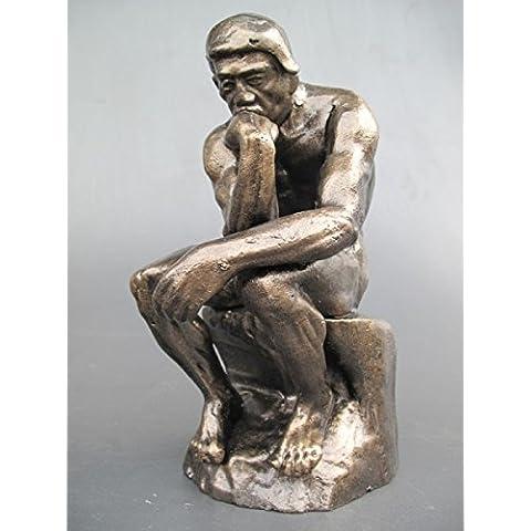 Figura Pensador Hierro h.26cm