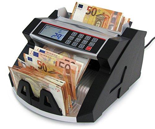 GELDZÄHLMASCHINE BANKNOTEN GELDZÄHLER SILBER SCHWARZ MIT DISPLAY TYP 1