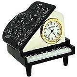 Nouveauté! Horloge Miniature de Collection en Forme de Piano Noir et Blanc sur Pied