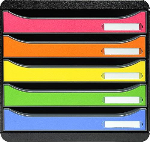 Exacompta Big-Box Plus 309798D Arlequin - Archivador de plástico con cajones