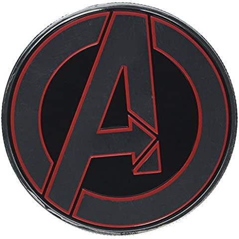 AVENGERS CLASSIC LOGO ROUND, Officially Licensed Original Artwork - Heavy Duty Metal Sticker DECAL pegatina