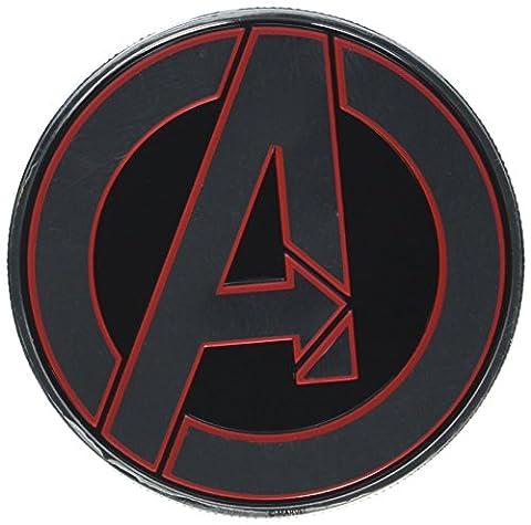 """Marvel Licensed Heavy Duty Embossed Metal Sticker-Avenger Logo 2.625""""X2.625"""""""