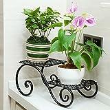Iron Art Mini-Blume Rack, Multi-Layer Creative Balkon Blumentopf Racks, Boden-Stil Wohnzimmer Schreibtisch Werk Stand
