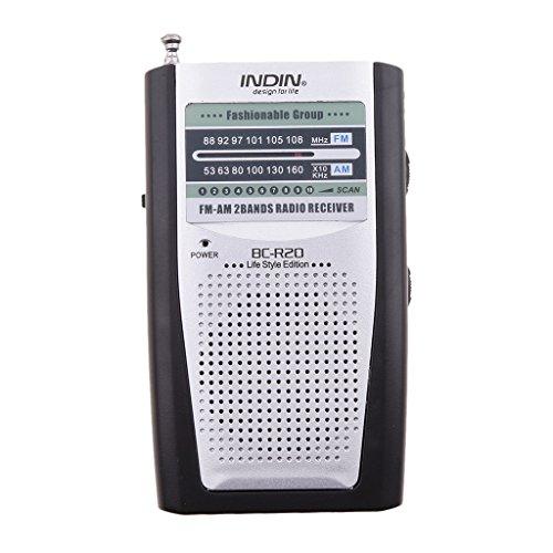 Am Mini Fm / Tragbare Radio (MagiDeal AM / FM-tragbares Radio mit Eingebauter Lautsprecher, Kopfhörer 3,5mm-Buchse)