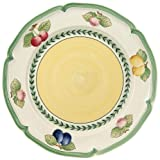 Villeroy & Boch French Garden Fleurence Speiseteller, 26 cm, Premium Porzellan, Weiß/Bunt