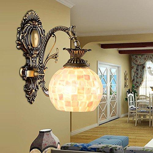 Bambus Wandleuchte Natürlichen (SKTDBG Wandleuchte rein natürlichen Schalen Lampen Nachttischlampe,Klicken Sie auf das erste grüne Alte?)