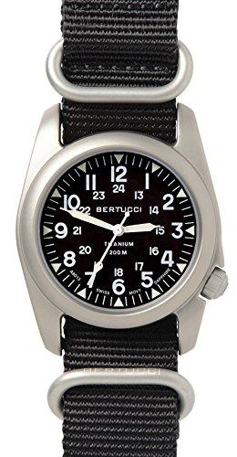 Bertucci a-2t nato zaffiro orologio–nero/nato in nylon nero